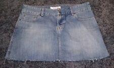 Abercrombie & Fitch Denim Blue Jeans Cut Off Mini Skirt Womens Juniors 8 EUC