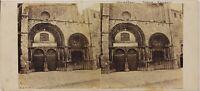 Avallon Chiesa Saint-Lazare Foto Stereo Th2n44 Vintage Albumina c1870