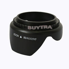 Spiral 58mm Camera Lens Hood for Canon Nikon UV Mirror Universal Black BH