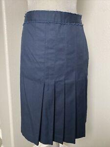 J.Mclaughlin women's pleated a line preppy Skirt Women's Navy Blue size 8