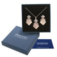 Parure collana donna oro Swarovski Element originale G4Love cristalli madreperla