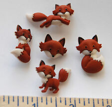 Out Foxed / Dress It Up Jesse James  / Shank Back / 5 Adorable Fox Buttons