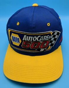 NAPA AUTOCARE 500 1999 hat blue yellow adjustable cap - Martinsville Speedway