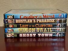 HARRY CAREY ~  5 Western DVDs   Ghost Town, Wagon Trail, Rustler's Paradise,....