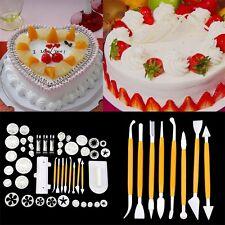14Set 46Pcs Fondant Cake Decorating Baking Cutter Plunger Mold Tools JL