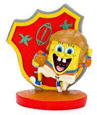 "SBR43  Football SpongeBob  Small  (2"") Resin Sponge Bob Fish Bowl , Collectible"