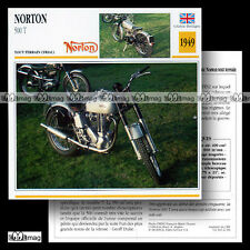 #021.04 NORTON 500 T 1949 Trial Fiche Moto Off-Road Motorcycle Card