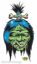 Mini Size Shrunken Head Sticker Decal Dirty Donny DD4B