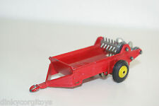 DINKY TOYS 321 MASSEY HARRIS MANURE SPREADER PLASTIC HUBS EXCELLENT CONDITION
