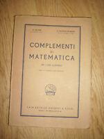 PALATINI & REVERBERI - COMPLEMENTI DI MATEMATICA - PER LICEI SCIENTIFICI 1948 BR