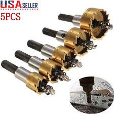 5PCS Multi-Purpose Power Bit Set HSS Titanium Coated Hole Saw Tooth Cutter Drill