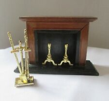 Dollhouse Furniture - Fireplace And Accessories