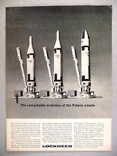 Lockheed Aircraft PRINT AD - 1962 ~~ Polaris missile