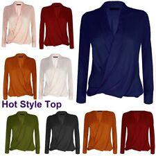 Waist Length Chiffon V Neck Plus Size T-Shirts for Women