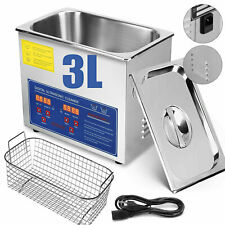 Digital Stainless Steel 3L Industry Heated Ultrasonic Cleaner Heater w/ Timer US