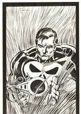 Punisher Pin-Up - 1990 Signed art by Tom Morgan Comic Art