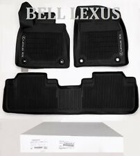 LEXUS OEM FACTORY ALL WEATHER FLOOR MAT LINER SET 2016-2019 RX350 & RX450H BLACK