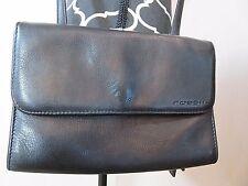 FOSSIL Black Leather Crossbody Purse Organizer Bag