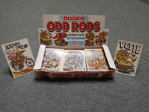 DONRUSS ODDER ODD RODS SILLY CYCLES SUPER LOT W/ BOX! 132 STICKERS TOTAL!