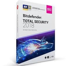 Bitdefender Total Security 2018 (1YR, 10 PC/Mac) Download DB11911010