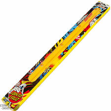 "SANTA CRUZ ""Cellblock Slimline"" Skateboard Rails Yellow Old School Grab Bars"