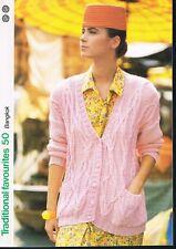 BANGKOK knitting pattern, cardigan - Marshall Cavendish pamphlet TF50