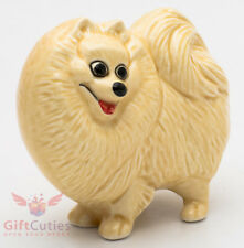 Porcelain Figurine of the Pomeranian Spitz dog