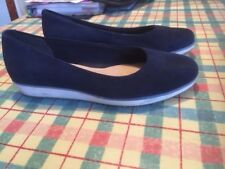 Ladies clarks navy blue suede shoes size 5