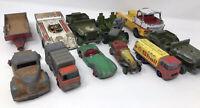 11 Vintage MATCHBOX CORGI DINKY Cars Trucks Etc - Spares Or Repairs