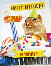 Happy Birthday Card. Cake Theme. Party Animal Range from Heartstring Cards.