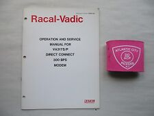 Racal-Vadic Va317S/P Direct Connect 300 Bps Modems Operating & Service Manual