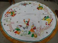 Vintage Paragon Needlecraft Walt Disney Christmas Hand Sewn Tree Skirt