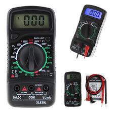 XL-830L Digital LCD Multimeter Voltmeter Ammeter AC/DC/OHM Volt Current Tester