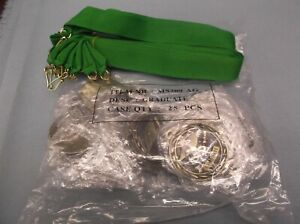 """lot of 25 gold graduate medal with green neck ribbon 2"""" diameter MS309-G"""