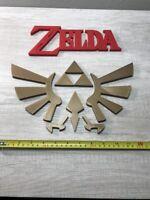 """BIG Zelda Hyrule Video Game Logo Design 12"""" (game room, man cave, wall art)"""