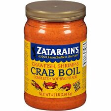 2 Packs Zatarains Crawfish Shrimp & Crab Boil  Bulk Seafood Flavoring 4.5 Lb Ea