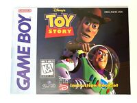 Toy Story Manual Gameboy Nintendo Game Boy GB Instruction Booklet Only!