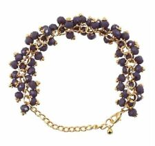 MACKRI Athena Amethyst Crystal Beads Bracelet (Violet)