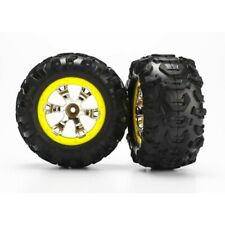 Traxxas TRA7276 Geode Wheels Yellow & Canyon AT Tires (2): 1/16 Summit