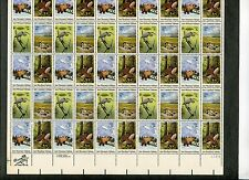 {Bj stamps} #1921-24 Wildlife Habitats.18¢ Mnh Sheet of 50. Issued in 1981.