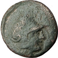 LYSIMACHOS Thrace King 305BC Lampsakos Ancient Greek Coin ATHENA TROPHY i64302