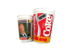Coca-Cola Max Headroom New Coke  80s Vintage set up two plastic cups