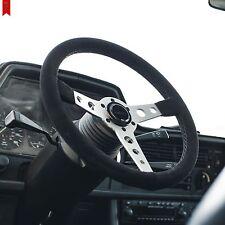 BMW E46 E46M3 - STEERING WHEEL GENUINE SUEDE BLACK STITCH  VIILANTE CORSA 350mm