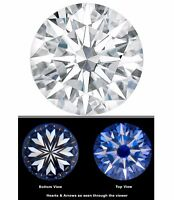 Forever One Moissanite 8.5mm Hearts & Arrows Round 2.2 ct Charles Colvard  D E F