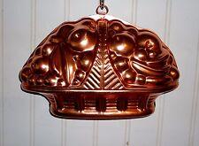 Mirro Copper anodized aluminum Jello/cake Mold Fruit Basket Vintage VGUC