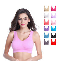 3 Pack Womens Ladies Sports Sleep Comfort Bras Plus Size Non-Wired Seamless Soft