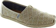 Toms Classic Women's Natural Woven Slip On Flat Canvas Loafer Espadrilles New