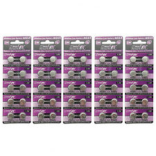 50 pcs AG13 GP76 357A SR44SW RW42 1.5V Alkaline Button Cell Battery HyperPS