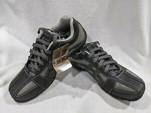 Skechers Men's Citywalk Malton Charcoal Leather Oxford Shoes - Size 8.5 NWB