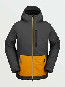 2021 NWT MENS VOLCOM DEADLY STONES INSULATED JACKET $200 L Dark Grey 2 layer